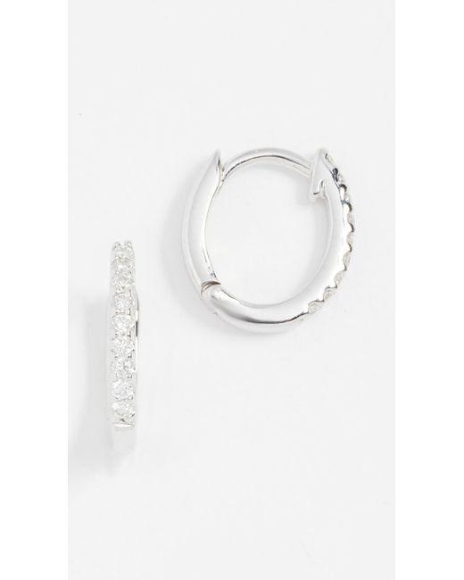 Dana Rebecca - White Diamond Huggie Earrings - Lyst
