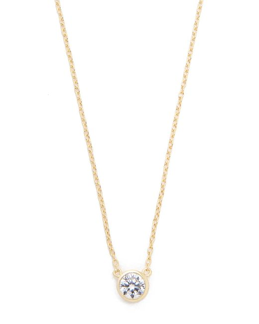 Shashi | Metallic Solitaire Necklace | Lyst