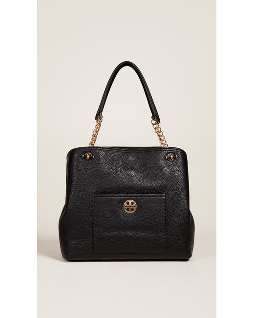 9b0746235e Tory Burch - Black Chelsea Slouchy Tote - Lyst ...