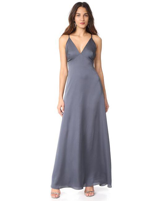 Monique Lhuillier Bridesmaids | Multicolor Sateen Slip Gown | Lyst