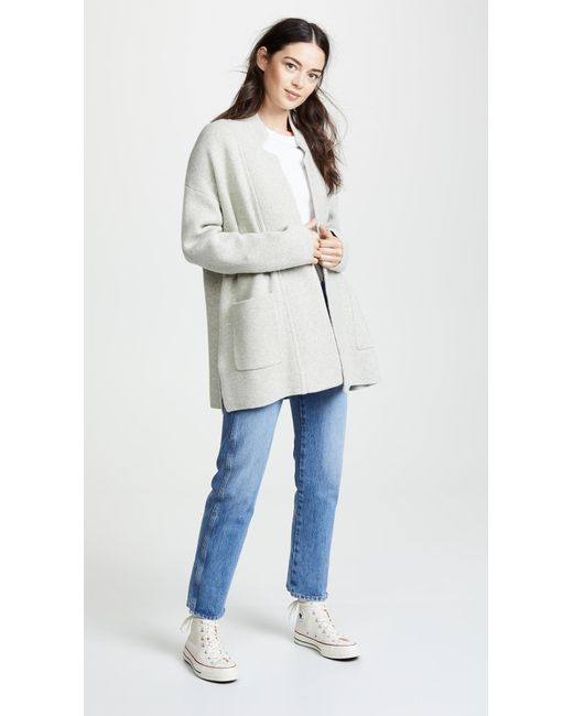 Madewell Hester Sweater Coat In Gray Lyst
