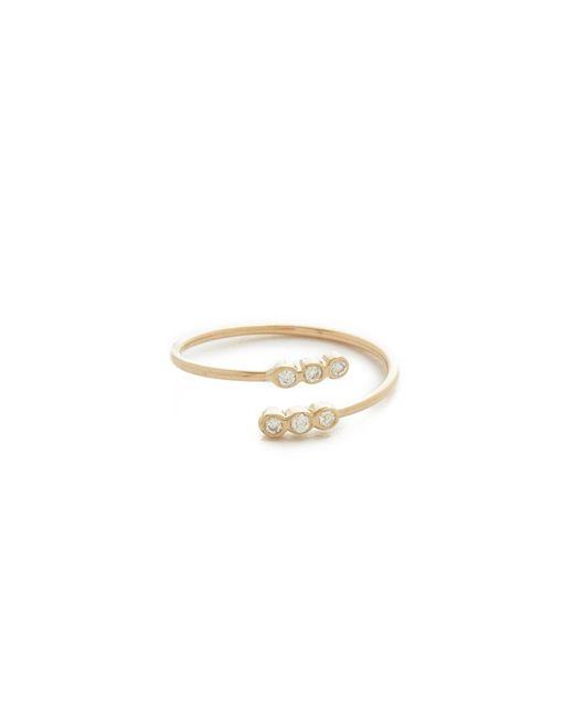 Zoe Chicco - Metallic Bezel Diamonds Pinky Ring - Lyst