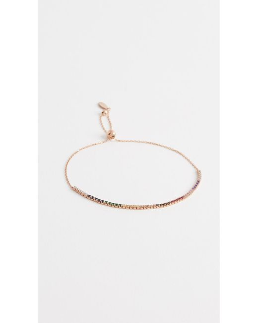 Shashi - Metallic Bar Slide Bracelet - Lyst
