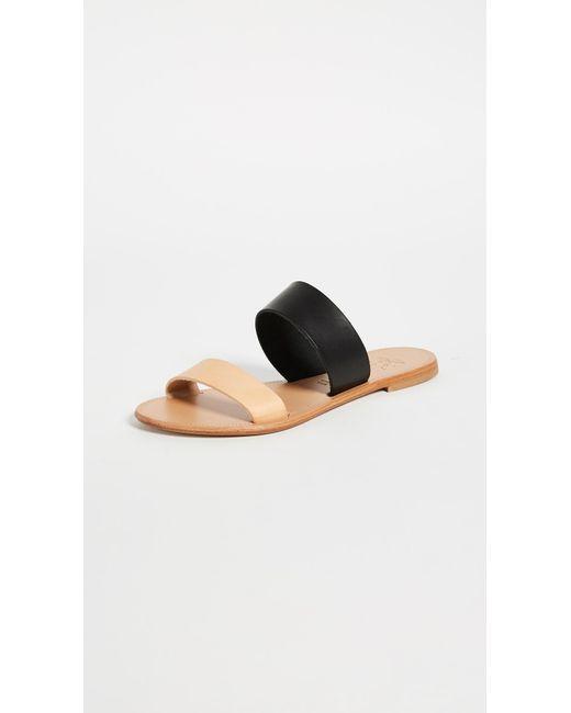 Joie - Black A La Plage Sable Two Band Sandals - Lyst