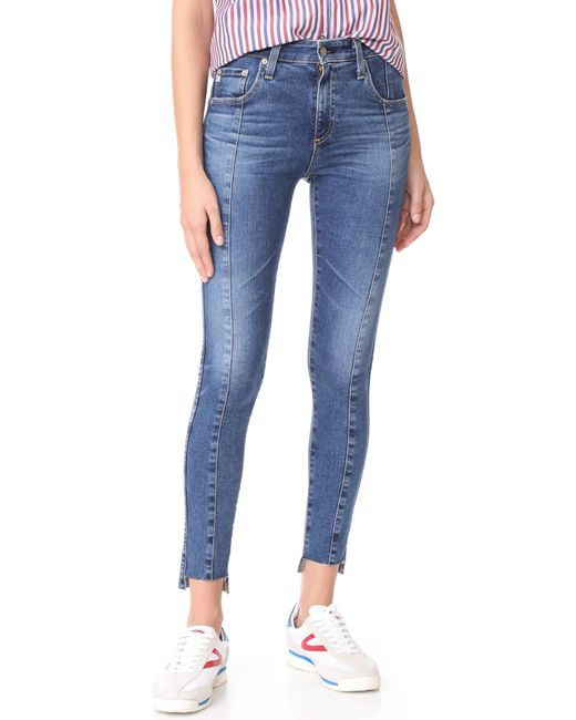 AG Jeans | Blue The Farrah Ankle Skinny Jeans | Lyst