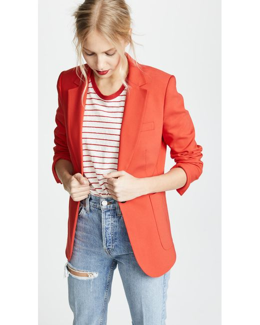 Anine Bing - Red Schoolboy Blazer - Lyst