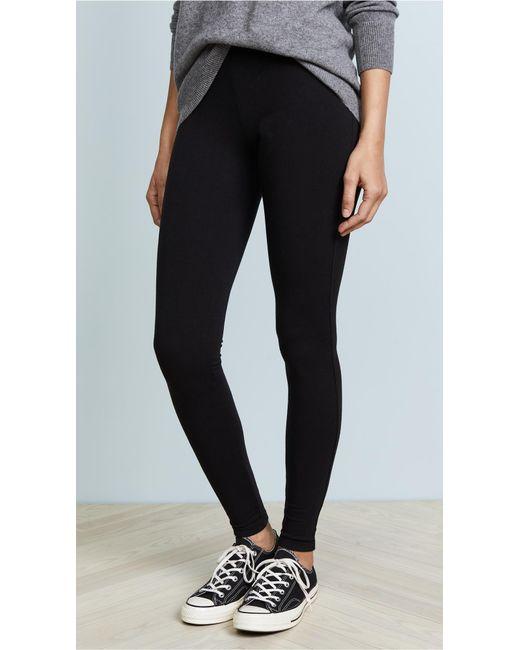 Splendid - Black Heavy Weight Leggings - Lyst