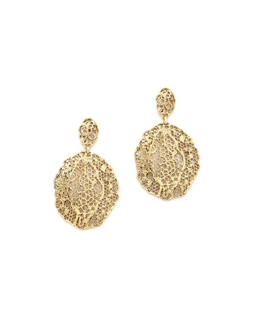 Aurelie Bidermann | Metallic Lace Earrings | Lyst