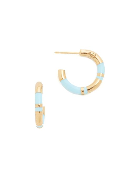 Aurelie Bidermann Positano Hoop Earrings In Blue Lyst