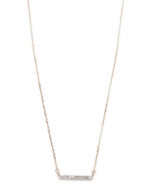 Adina Reyter | Yellow Pave Bar Necklace | Lyst