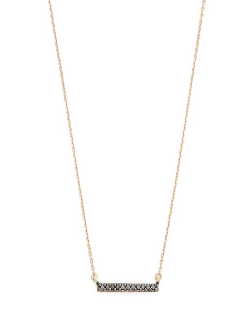 Adina Reyter | Metallic Black Diamond Pave Bar Necklace | Lyst
