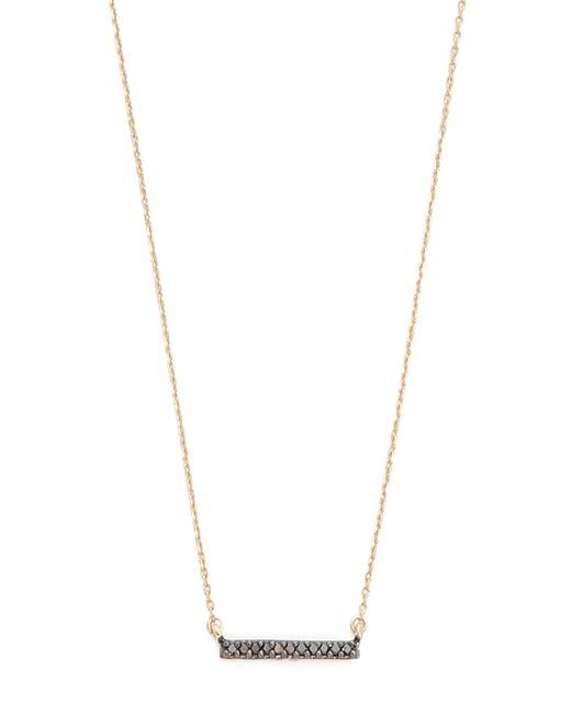 Adina Reyter | Black Diamond Pave Bar Necklace | Lyst