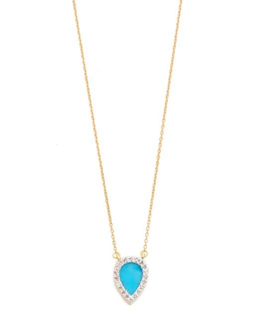 Adina Reyter | Blue Small Turquoise + Diamond Teardrop Pendant Necklace | Lyst