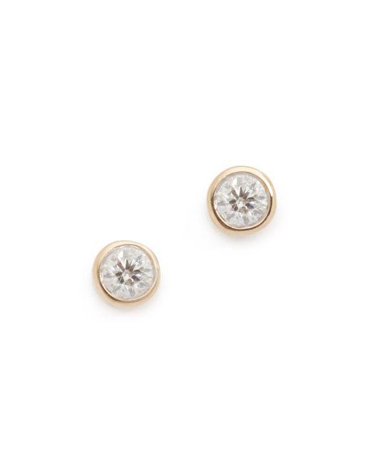 Adina Reyter | Metallic Single Diamond Stud Earrings | Lyst
