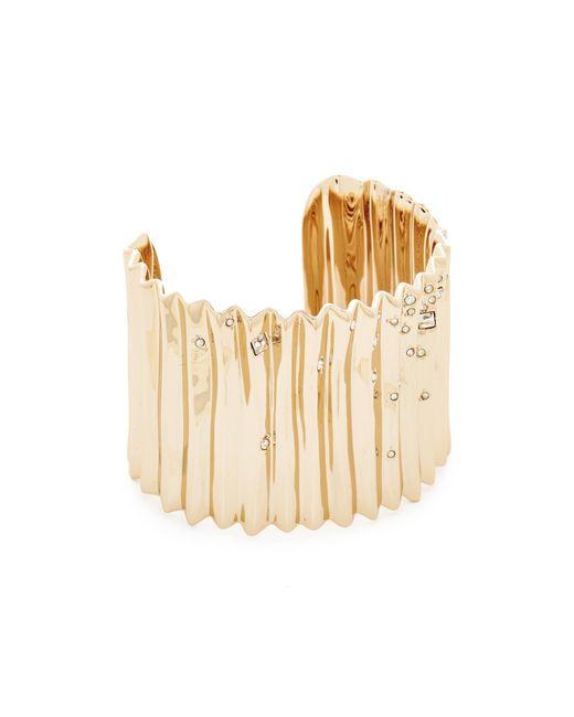Alexis Bittar | Metallic Pleated Cuff Bracelet | Lyst