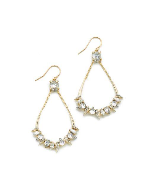 Alexis Bittar | Metallic Crystal Mosaic Teardrop Earrings | Lyst