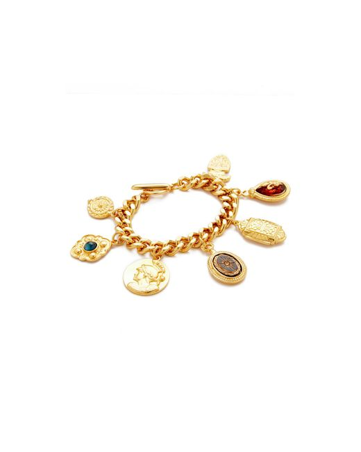 Ben-Amun | Metallic 7 Pendant Chain Bracelet | Lyst