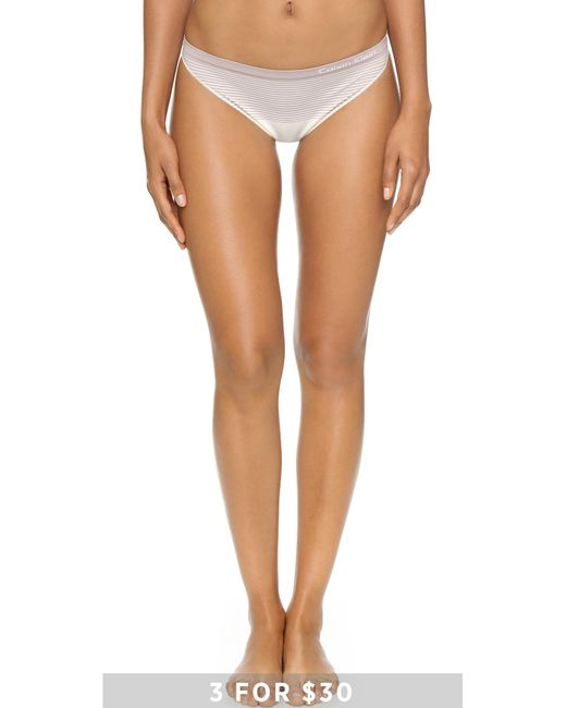 Calvin Klein | White Seamless Illusions Thong | Lyst