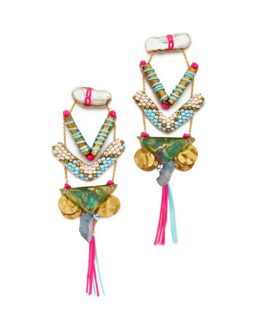 Deepa Gurnani   Pink Lavina Earrings   Lyst