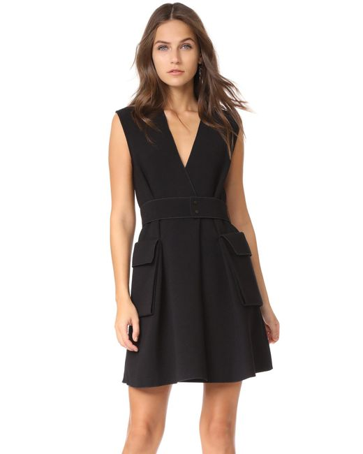 Dion Lee   Black Cargo Mini Dress   Lyst