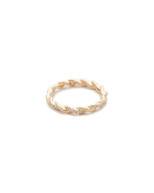 Dana Rebecca   Metallic Carly Brooke Twisted Ring   Lyst