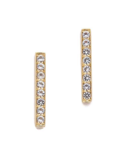 Elizabeth and James | Metallic Braque Bar Stud Earrings | Lyst