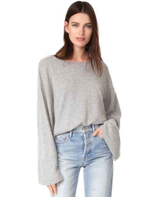 Elizabeth and James | Gray Everest Wide Boat Neck Sweater | Lyst