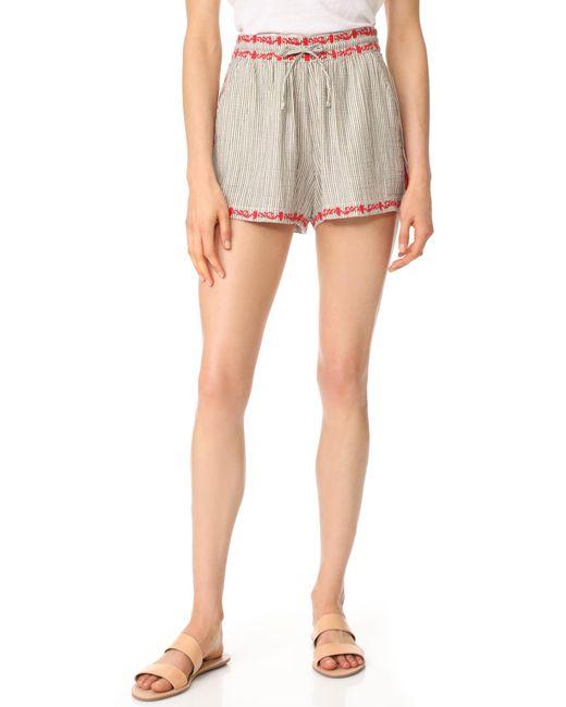 Ella Moss   Multicolor Marini Embroidered Shorts   Lyst