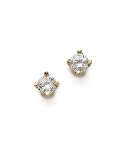 Gabriela Artigas | Yellow White Diamond Stud Earrings | Lyst