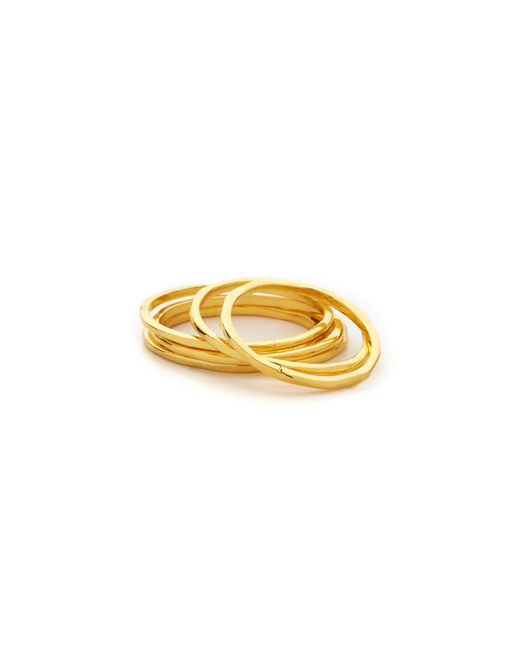 Gorjana | Metallic Mixed Size Simple Ring Set | Lyst