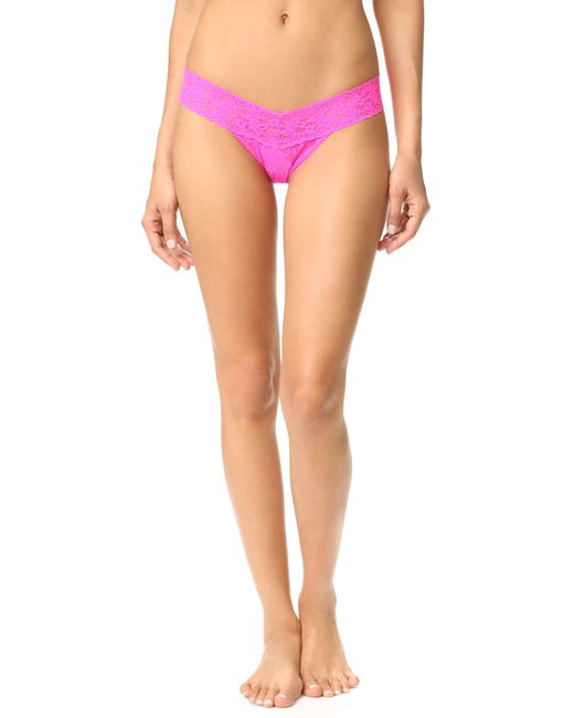 Hanky Panky | Pink 'signature Lace' Low Rise Thong | Lyst