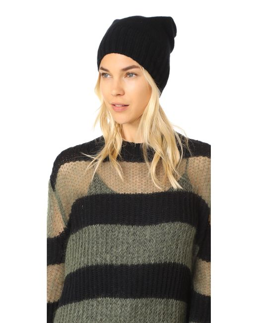 Hat Attack | Black Slouchy Cashmere Hat | Lyst