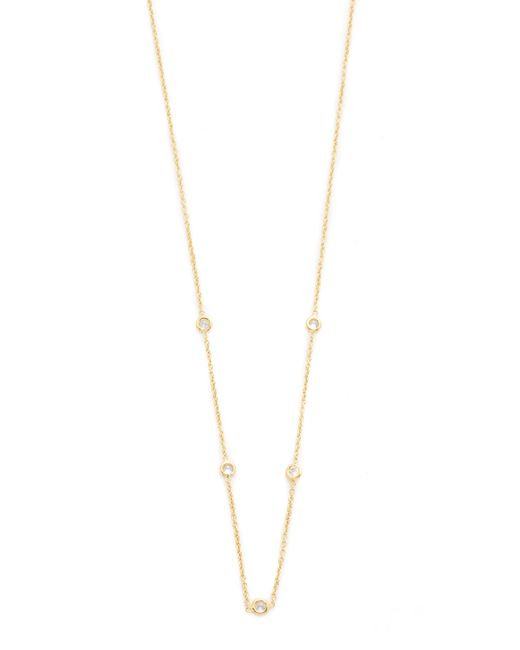 Jacquie Aiche | Metallic Ja Cz Bezel Necklace | Lyst
