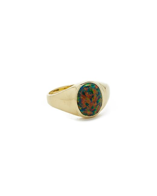 Jacquie Aiche | Metallic Opal Signet Ring | Lyst