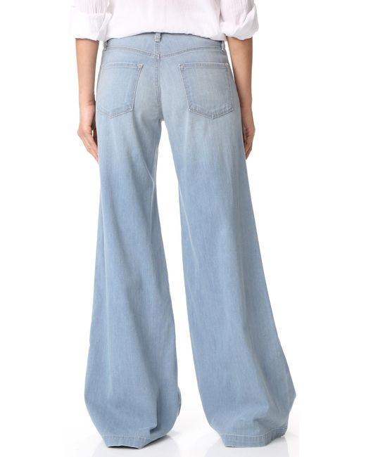 J brand Lynette Low Rise Super Wide Leg Jeans in Blue | Lyst