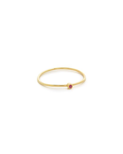 Jennifer Meyer | Metallic 18k Gold Thin Ruby Ring | Lyst