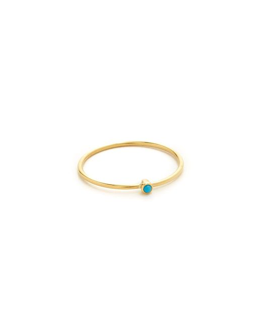 Jennifer Meyer | Metallic Thin Ring With Turquoise | Lyst