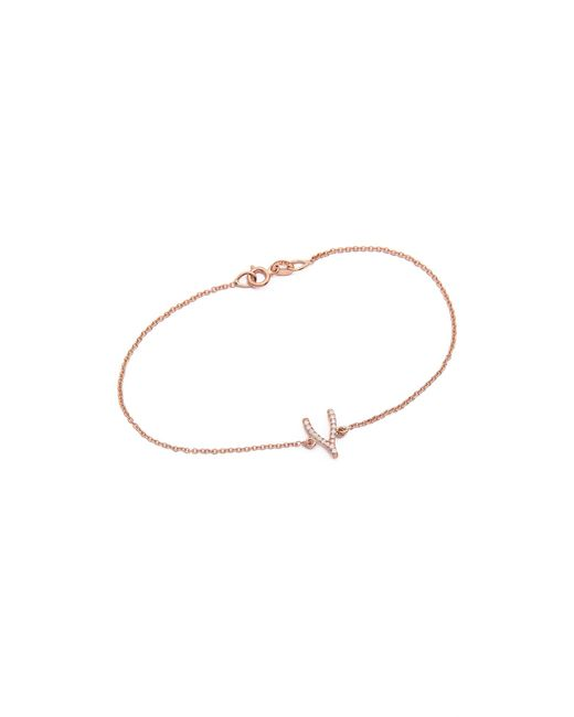 Jennifer Meyer | Pink Diamond Wishbone Bracelet | Lyst