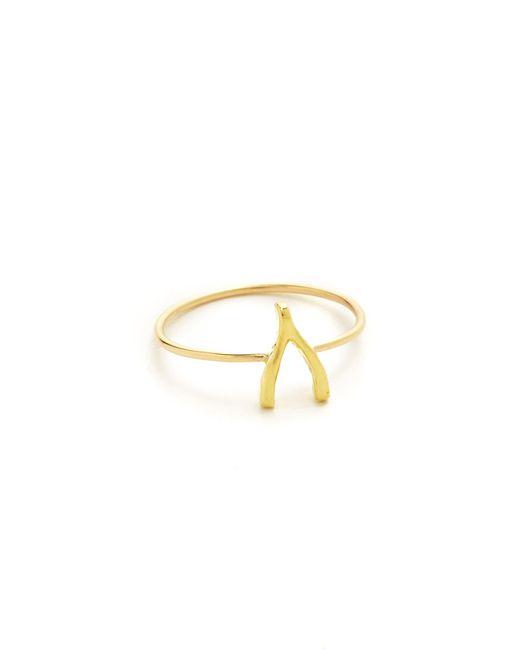 Jennifer Meyer | Metallic Mini Wishbone Ring | Lyst