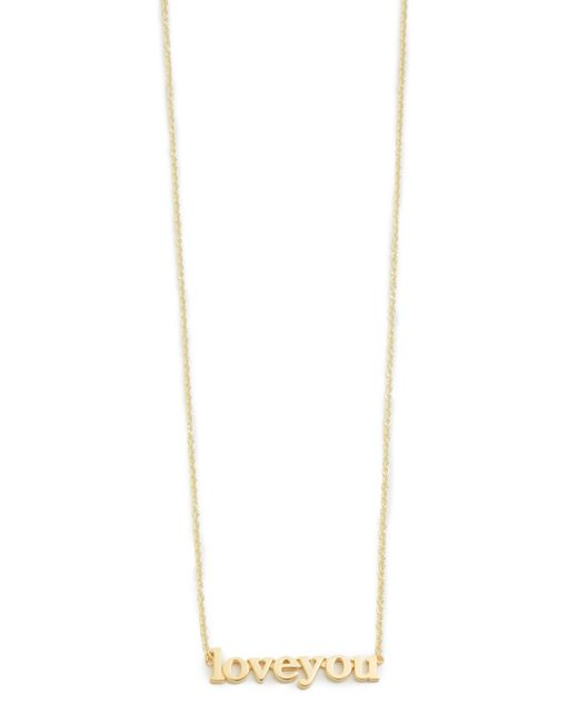 Jennifer Meyer | Metallic Love You Necklace | Lyst