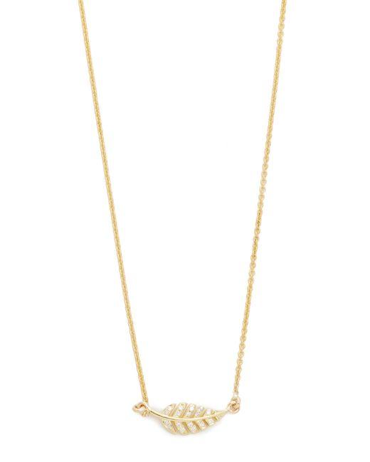 Jennifer Meyer   Blue Diamond Mini Leaf Necklace   Lyst
