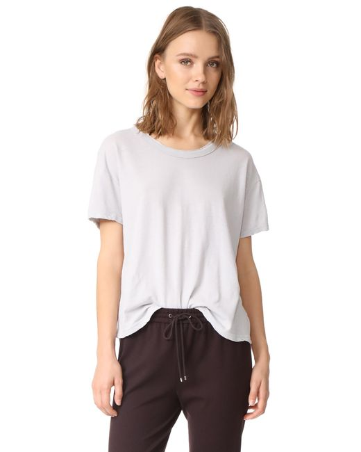James Perse | White Boxy Tee | Lyst