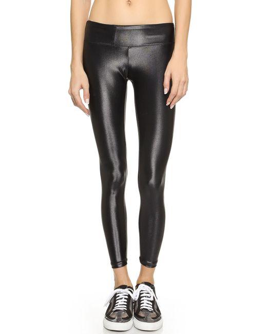 Koral Activewear   Black Shiny Metallic Active Legging   Lyst