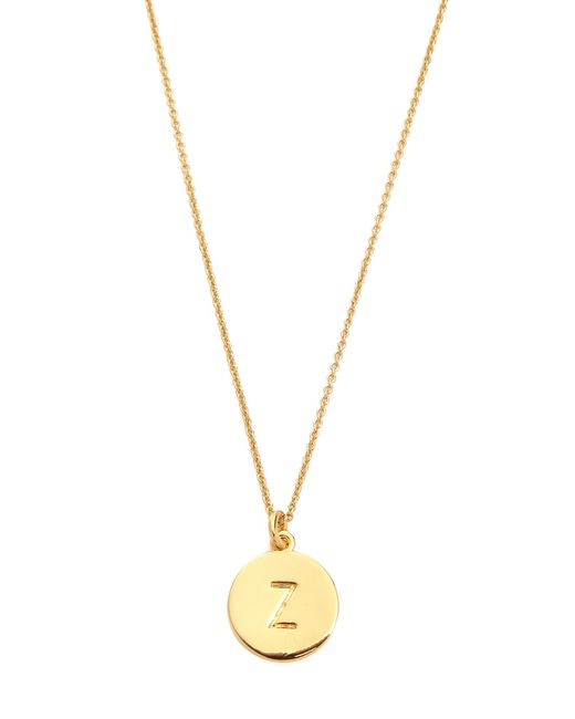 Kate Spade | Metallic Letter Pendant Necklace | Lyst
