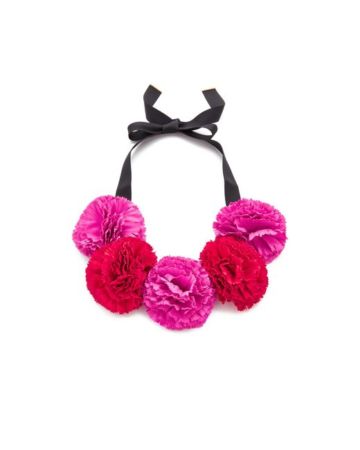 Kate Spade | Pink Fiesta Floral Statement Necklace | Lyst
