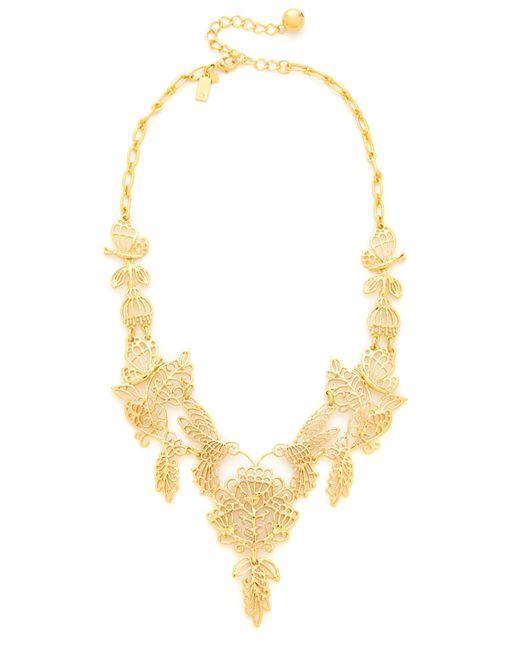 Kate Spade | Metallic 'golden Age' Statement Necklace | Lyst