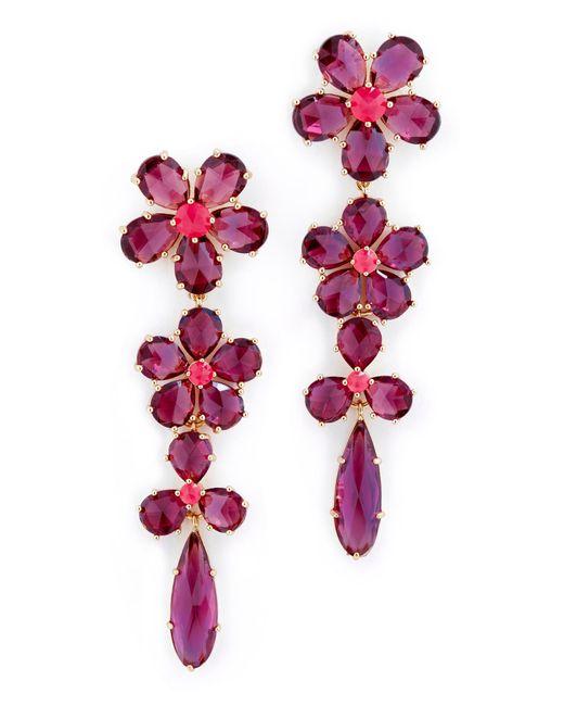 Kate Spade | Multicolor In Full Bloom Linear Earrings | Lyst