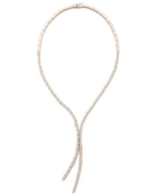 Kenneth Jay Lane | White Round Cz Lariat Necklace | Lyst