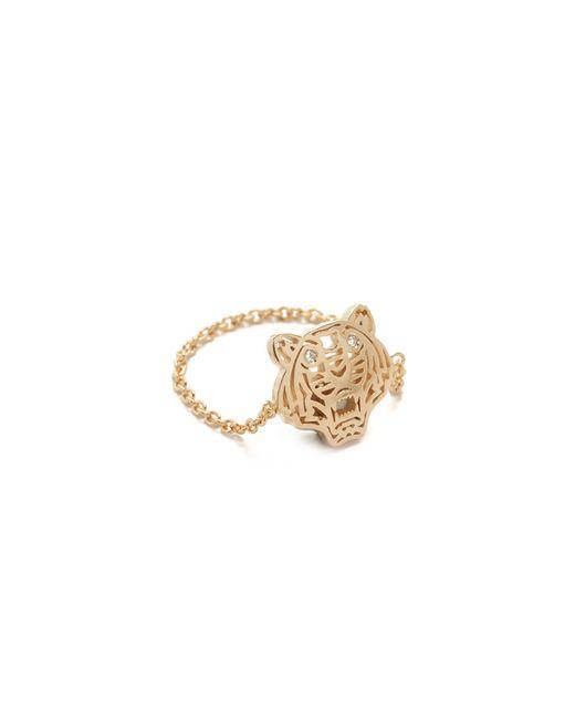 KENZO | Pink Mini Tiger Ring | Lyst