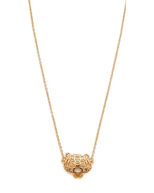KENZO | Metallic Mini Tiger Necklace | Lyst